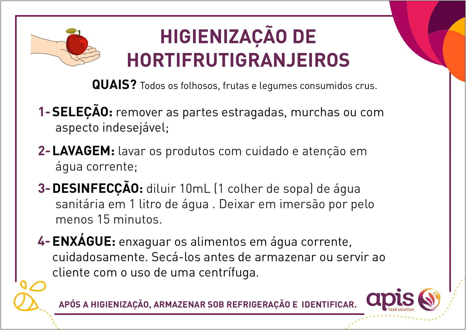 Higienização de Hortifrutigranjeiros (Versão 2)