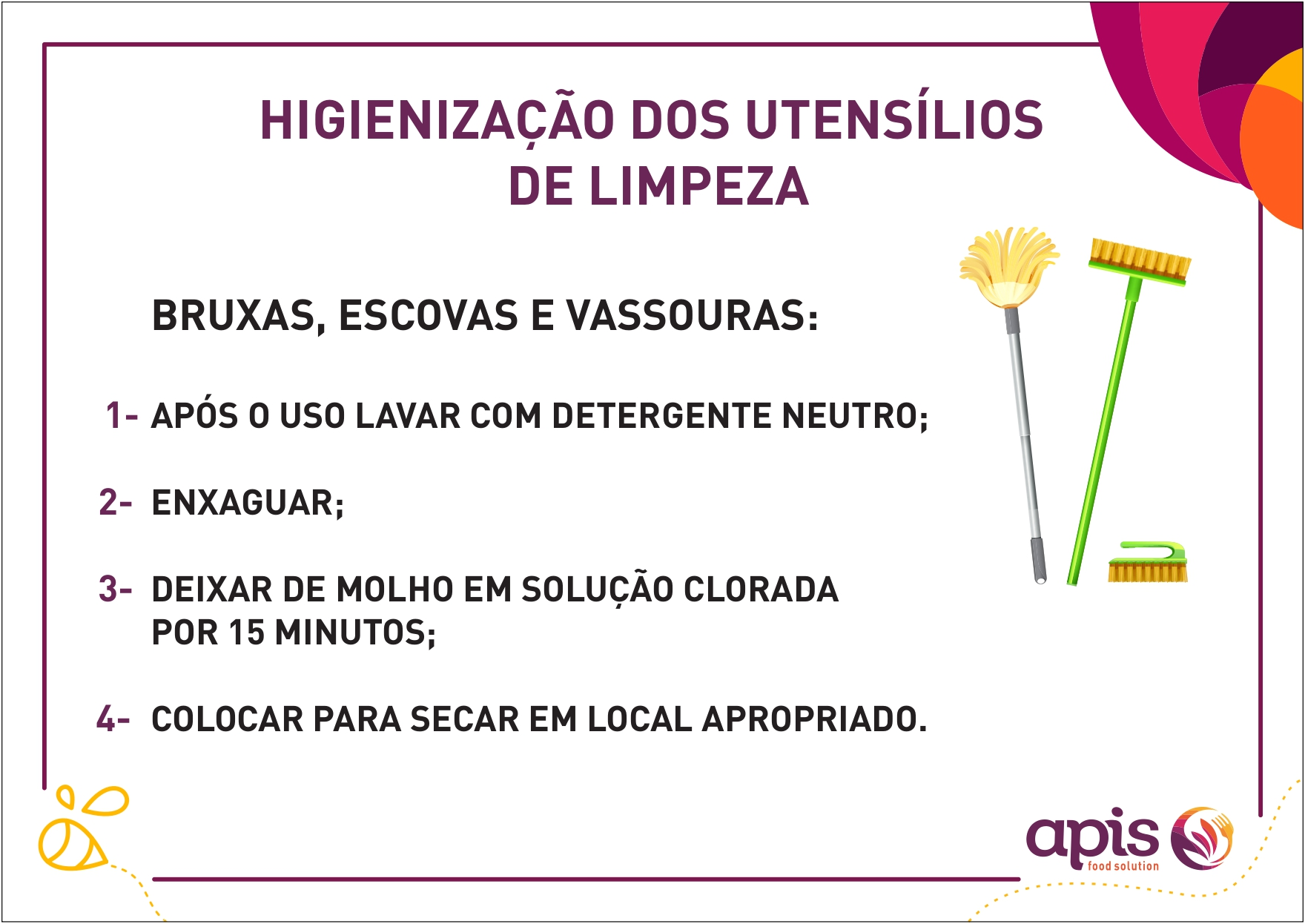 Higienização dos utensílios de limpeza (VERSÃO 2)