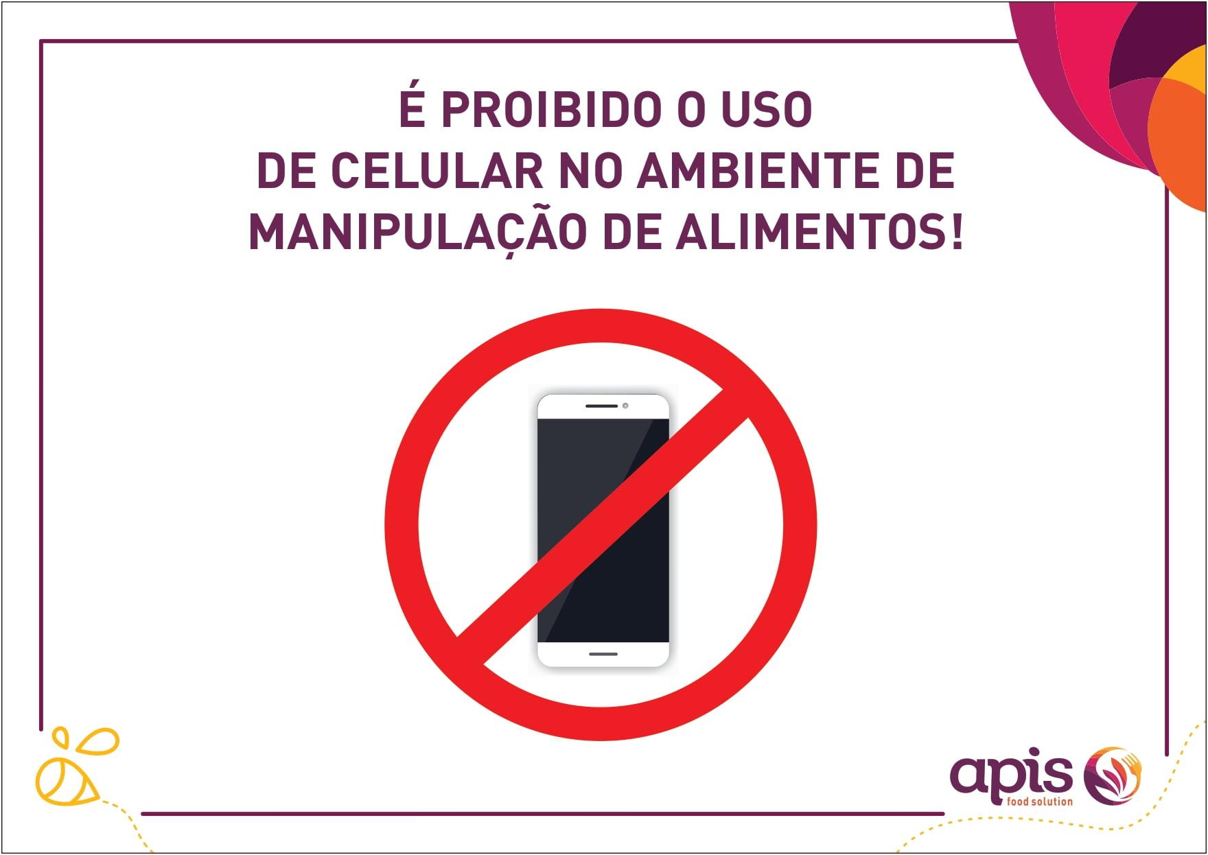 Não é permitido uso do celular