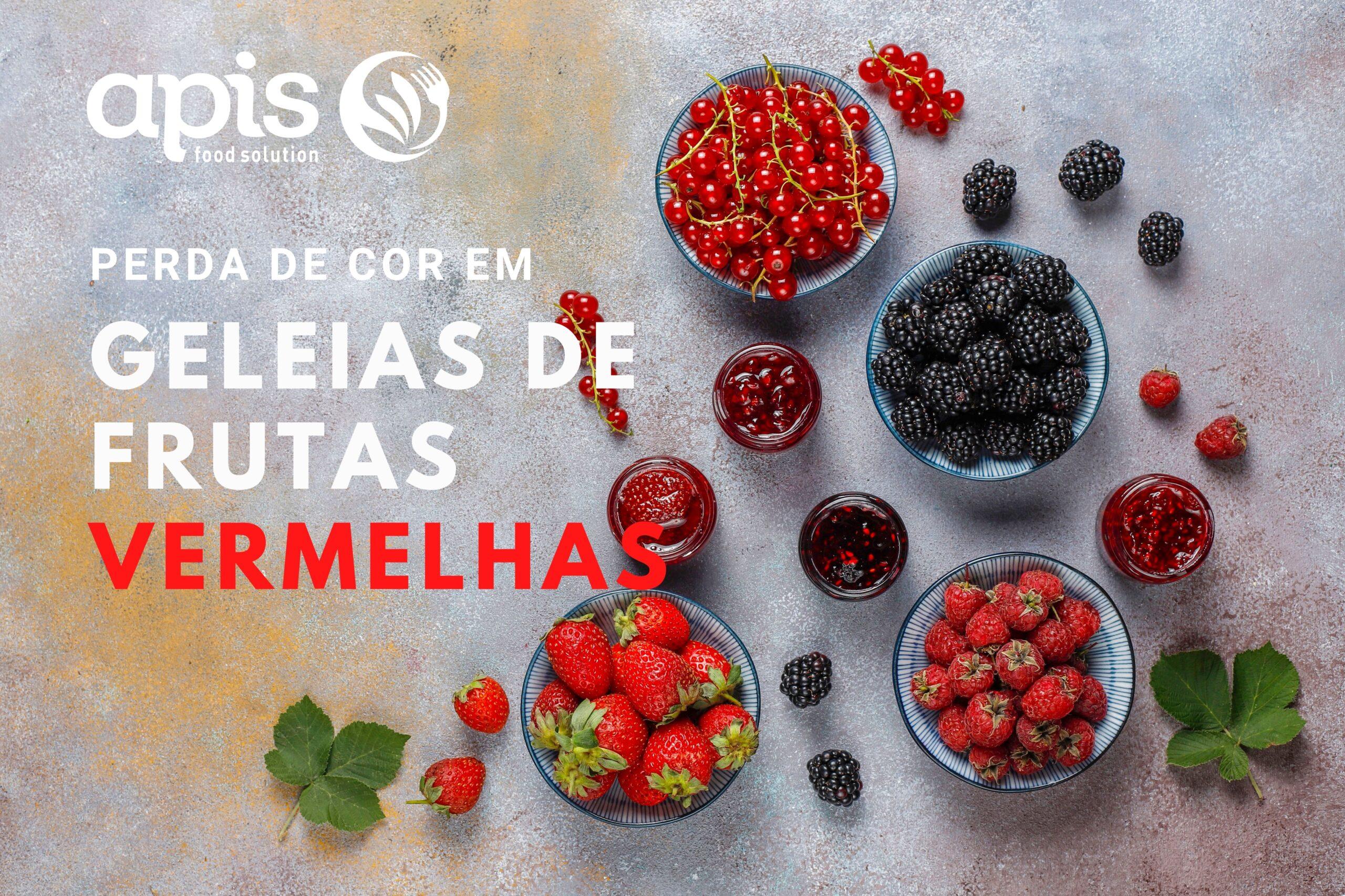 Perda de cor em geleias de frutas vermelhas
