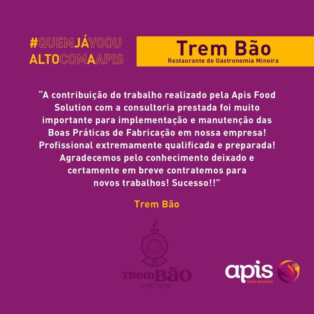 Depoimento Trem Bao Esteja dentro da lei com as Boas Praticas de Fabricacao BPF