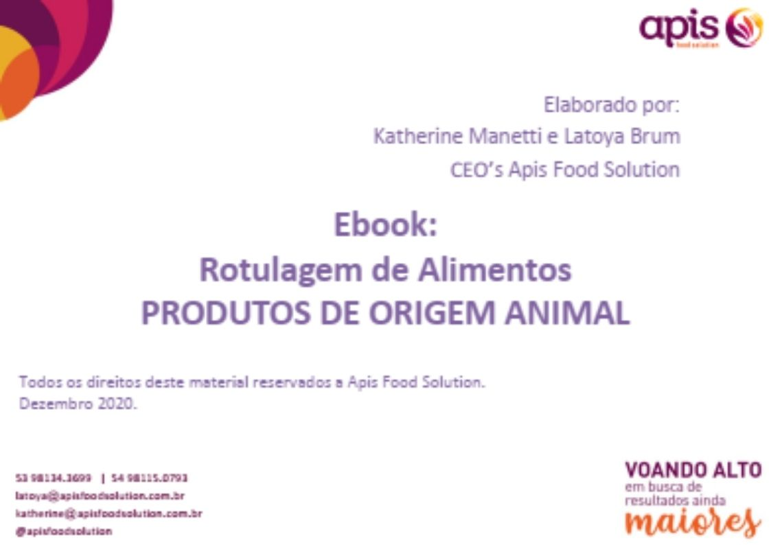 E-book Rotulagem de Produtos de Origem Animal